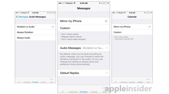 Apple Watch iPhone Uygulaması -  Mesajlar