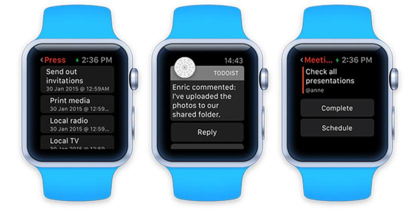 Apple Watch Todoist Uygulaması
